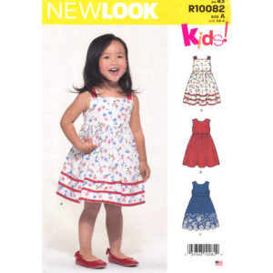 New Look 10082 girls dress pattern