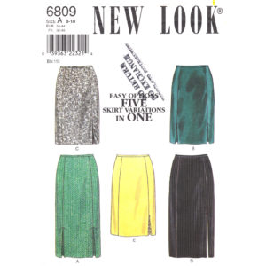 New Look 6809 womens skirt pattern
