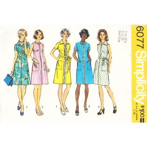 Simplicity 6077 womens dress pattern