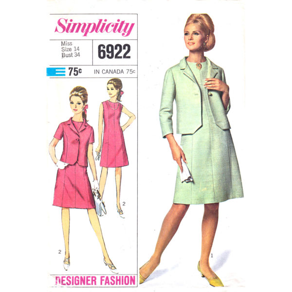 Simplicity 6922 dress and jacket pattern