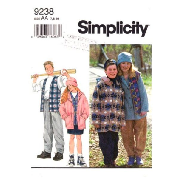 Simplicity 9238 kids sewing pattern