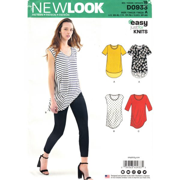 New Look 0933 womens top pattern