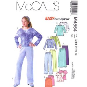 McCalls 4554 girls sewing pattern