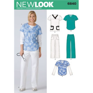 New Look 6840 scrubs pattern