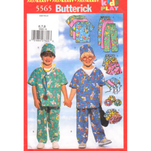 Butterick 5565 kids scrubs pattern