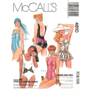 McCalls 4810 swimsuit pattern