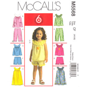 McCalls 5568 girls sewing pattern