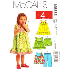 McCalls 5835 girls sewing pattern