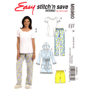 McCalls 5960 pajama pattern