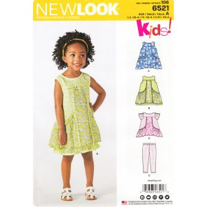 New Look 6521 girls sewing pattern