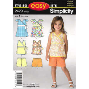 Simplicity 2429 girls sewing pattern