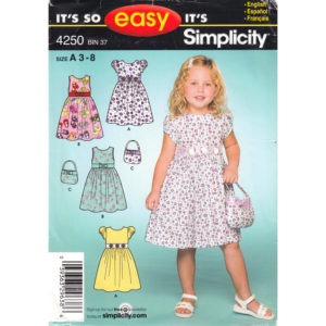 Simplicity 4250 girls dress pattern