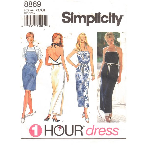 Simplicity 8869 wrap dress pattern