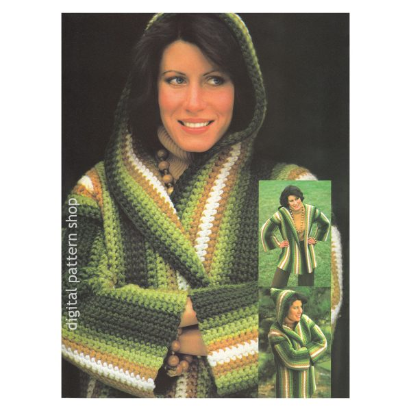 hooded crochet jacket