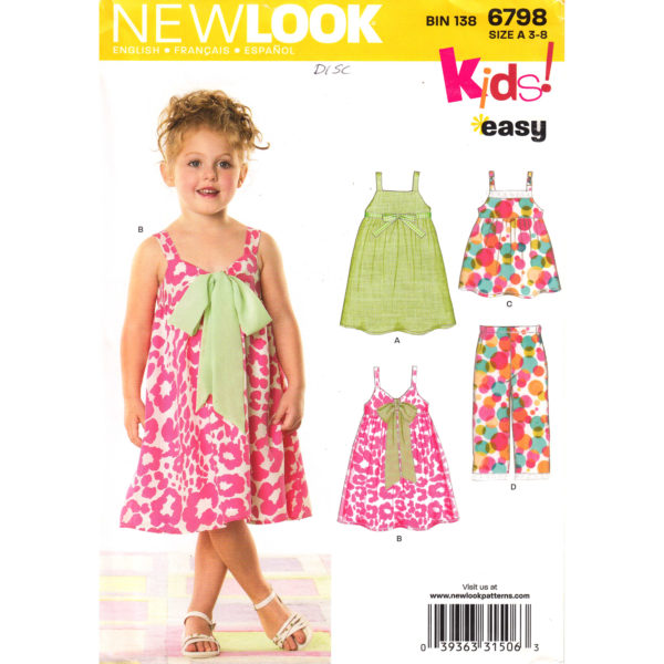 New Look 6798 girls pattern
