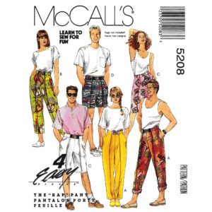 McCalls 5208 rap pants pattern