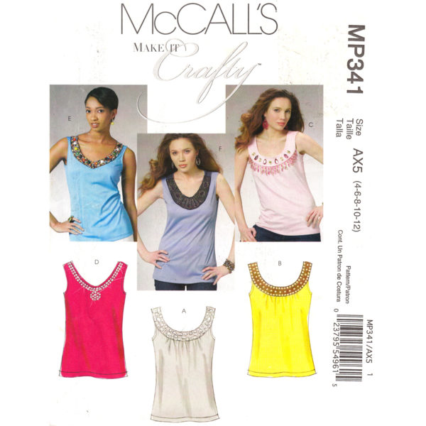 McCalls 6077 341 tank top pattern
