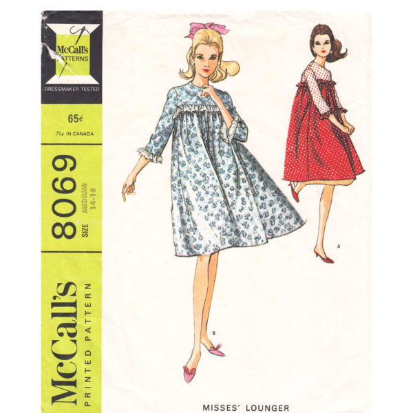 McCalls 8069 lounge gown pattern