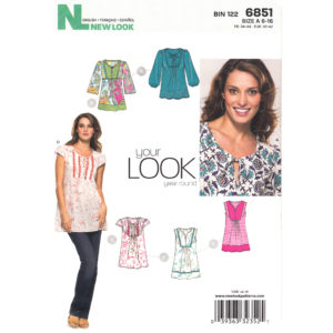 New Look 6851 womens top pattern