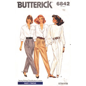 Butterick 6842 pants pattern