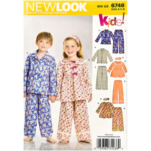 New Look 6746 kids pajama pattern