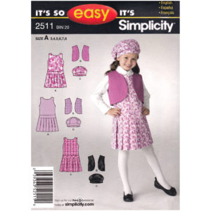 Simplicity 2511 girls sewing pattern