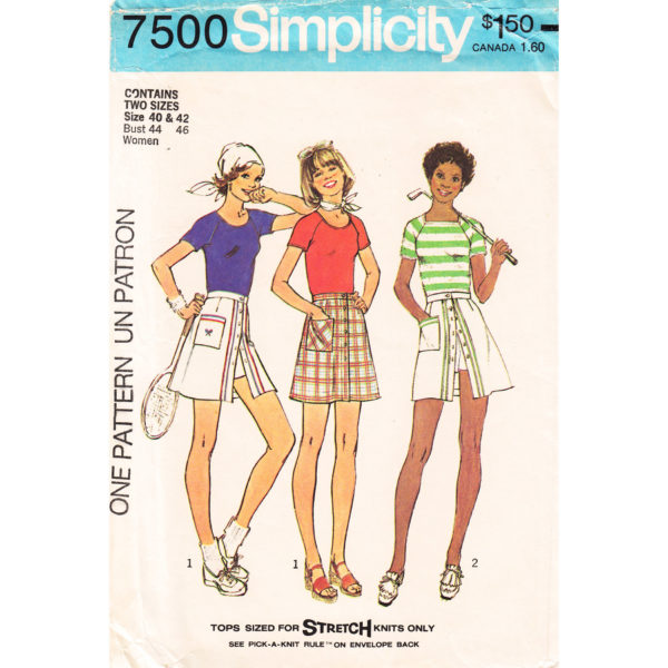 Simplicity 7500 top and skirt pattern