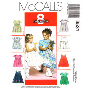 McCalls 3531 girls dress pattern