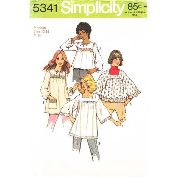 Simplicity 5341 top pattern