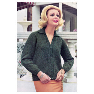 60s Cardigan knitting pattern