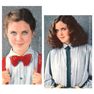 bowtie and necktie crochet pattern