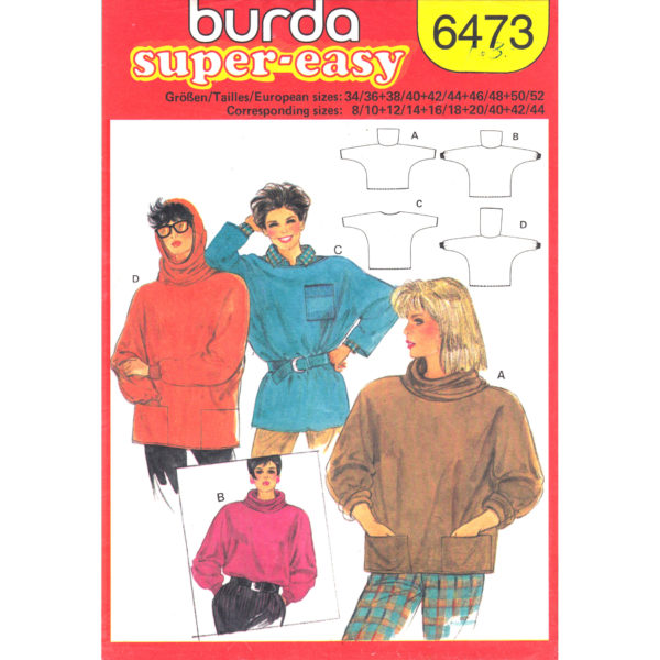 Burda 6473 top sewing pattern