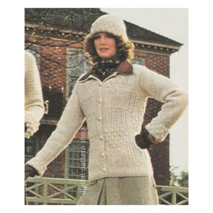 Irish jacket and hat knitting pattern
