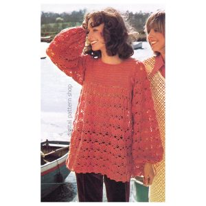 lacy smock top crochet pattern