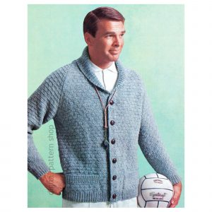 mens cardigan knitting pattern