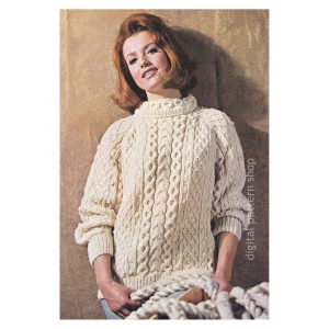 Irish knit sweater pattern