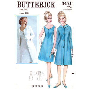 Butterick 3471 coat and dress pattern
