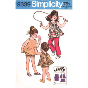 Simplicity 9339 girls pattern