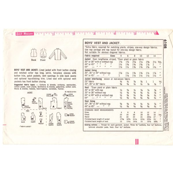 S6108 boys sewing pattern